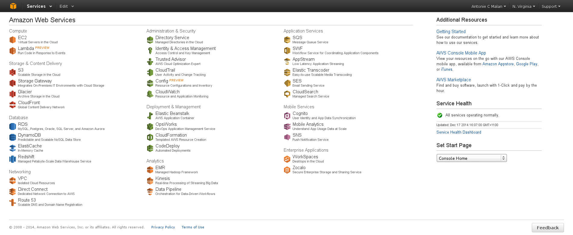 The AWS Management Console