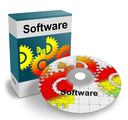 image of software package and disk
