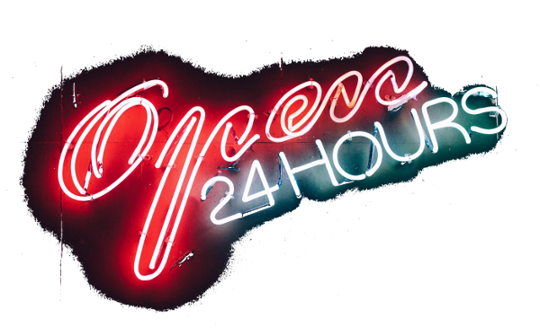 an image showing open 24 hours